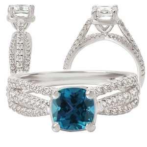 117072al Square Cushion Cut Alexandrite Engagement Ring