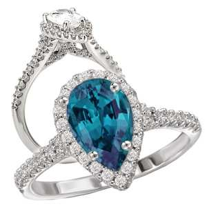 117553-100al Pear Shaped Alexandrite Engagement Ring