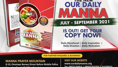 ODM 1st October 2021 Daily Manna   Even The Doctor Wanted The Drugs