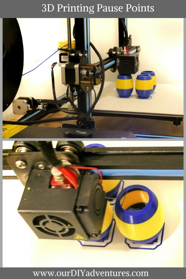 Pause points…switching filaments mid-print and 3D printing