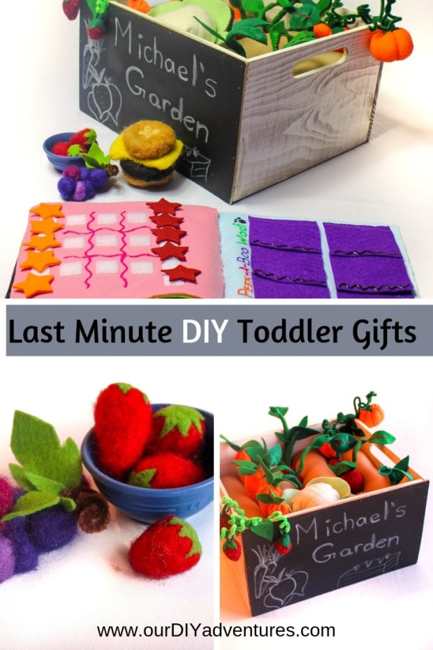 Last Minute DIY Toddler Gifts Needle Felt Play Garden Kids Crafts