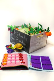 no sew busy book felt garden and play pretend food