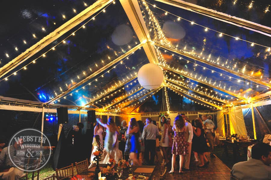 Cypress Grove Estate House Wedding – Clear Tent – Amber Uplighting