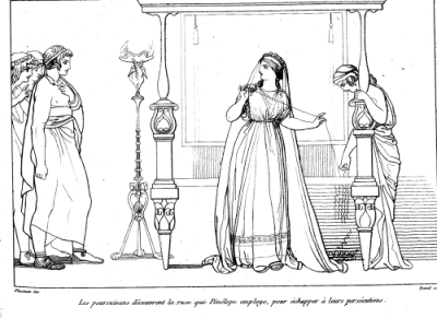 From John Flaxman's illustrations for Odyssey