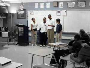 A group from fourth period presenting.