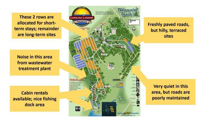 Carolina Landing RV Resort Map
