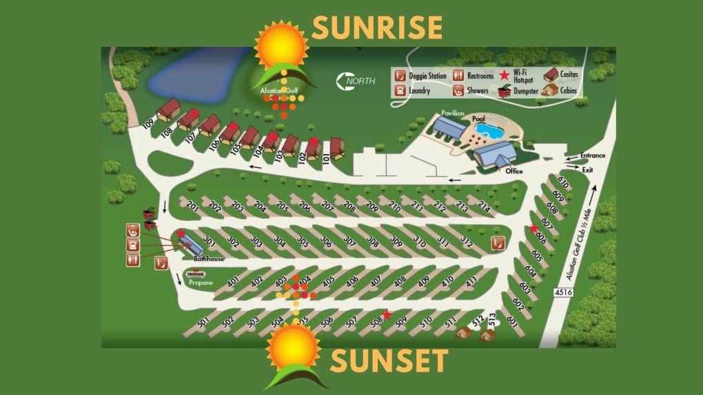 Alsatian RV Resort layout