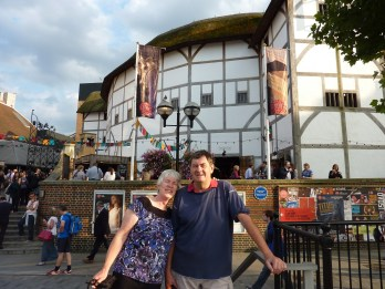 Outside the Globe Theatre