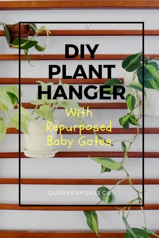 DIY Plant Hanger with Repurposed Baby Gates (24)