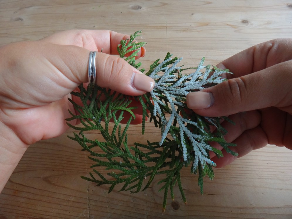 Mini Pine Branch Christmas Wreaths DIY Craft (9)