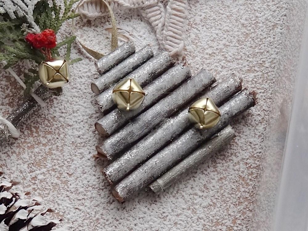 DIY Mini Christmas Tree Rustic Stick Ornaments Our Everydays DIYblog Mom Blogger (4)