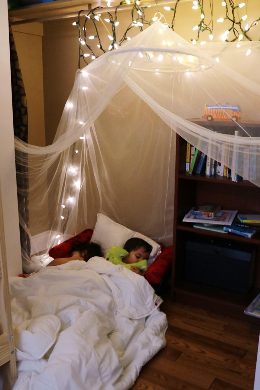 Siblings Room Sharing Reading Closet Mom Blogger Edmonton Mom (4)