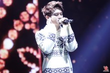Chen in pattern sweater