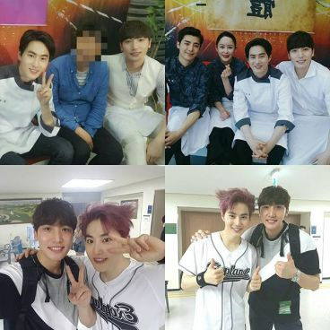 taehwan_k: Junmyeon has become thinner than the shooting days. Fighting until the end! #howareyoubread #exordium #exo #exordiuminseoul #handowoo #damon #kimjunmyeon #kangtehwan (160729)