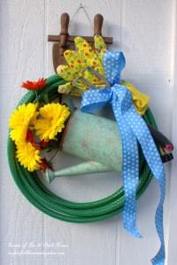 DIY ~ Garden Hose Wreaths