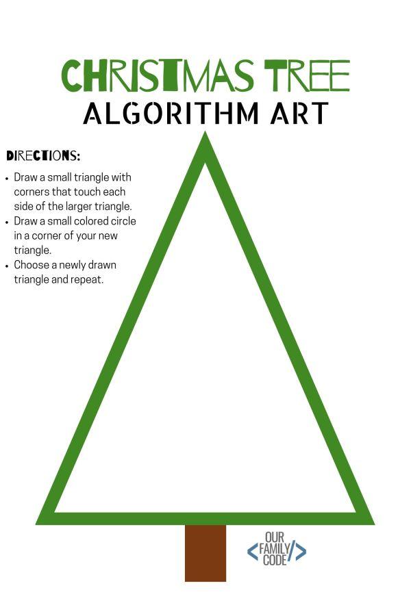Christmas Algorithm Art Unplugged Coding Activity