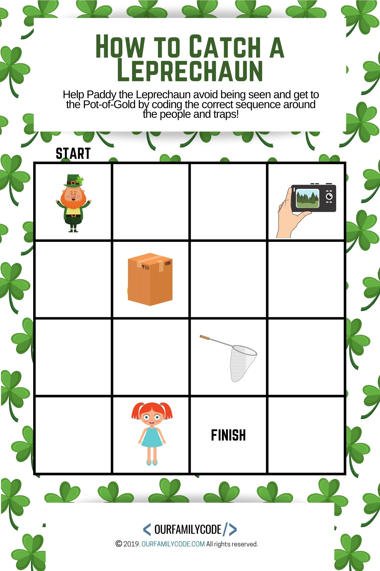 How To Catch A Leprechaun Sequence Coding Activity
