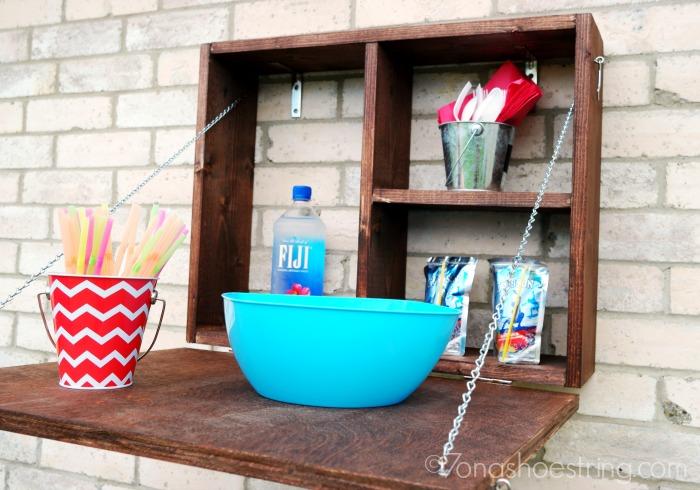 build diy outdoor serving station