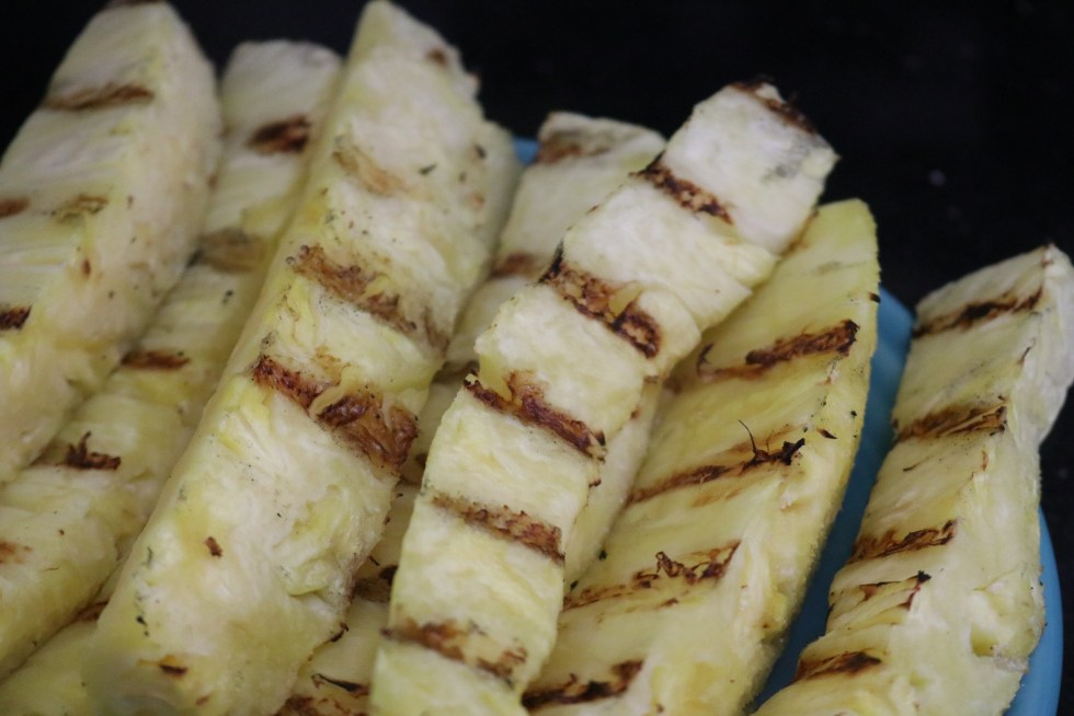 Grilled pineapple spears