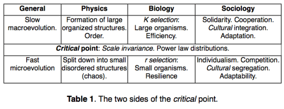 "Figure 10. F. Roddier view of what happens on the two sides of the critical point. From upcoming translation of his book, ""The Thermodynamics of Evolution."""