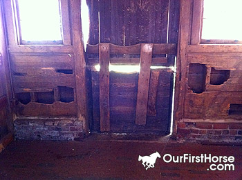Biltmore Estate horse stall damage