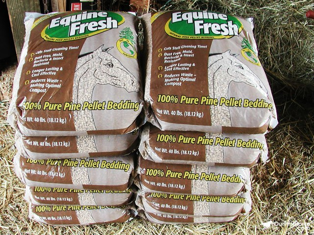 Bags of Equine Fresh horse bedding