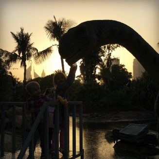 Dubai Garden Glow and Dinosaur Park | Family day out review