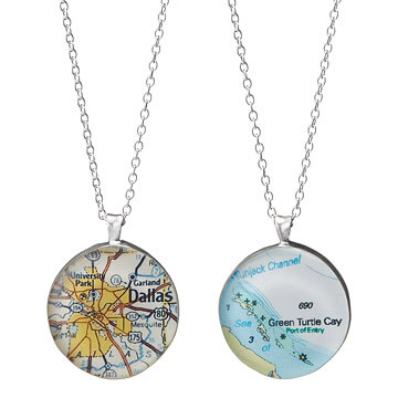Personalised map related gifts