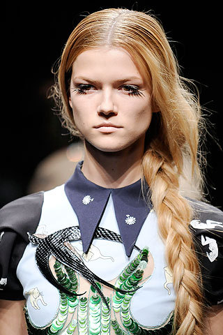 Miu Miu side-braid look