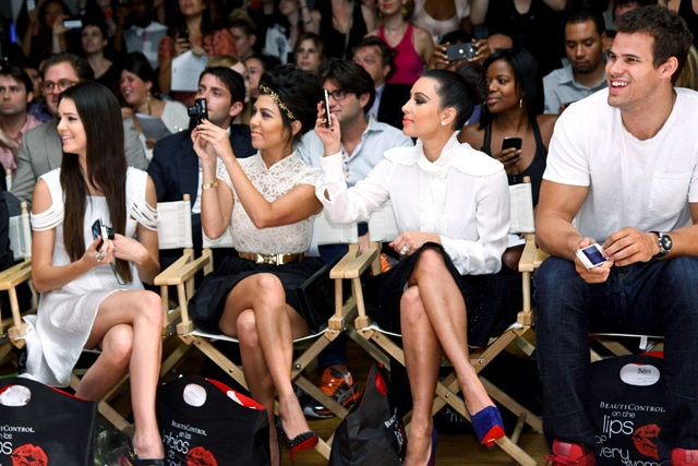 The Kardashian beauties at Abbey Down show