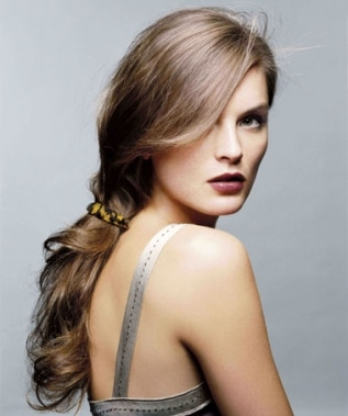 Low Ponytail Hairdo for Fall 2011