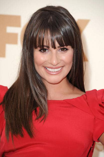 Lea Michelle glowing hair Emmy 2011