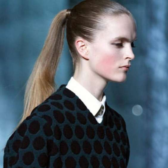 Sleek Ponytail Hairstyle Fall 2011