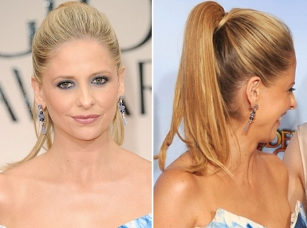 Sarah Michelle Gellar hair Golden Globes 2012