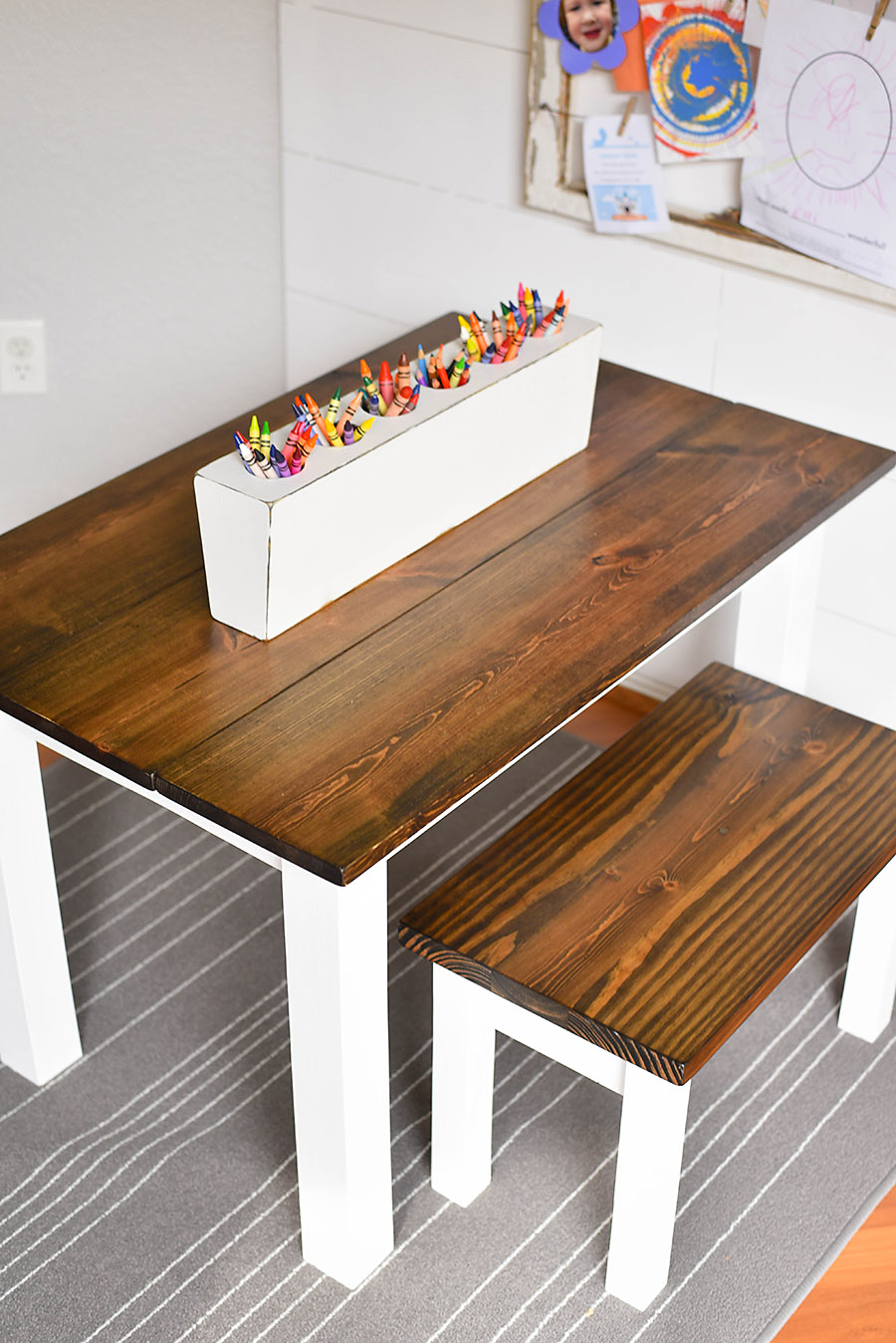 How To Make A Diy Farmhouse Kid S Table Our Handcrafted Life