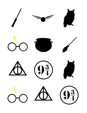 potter harry toppers cupcake shower printable clip easy printables decorations clipart symbols ourhandcraftedlife svg diy hogwarts party tatuajes handcrafted quidditch