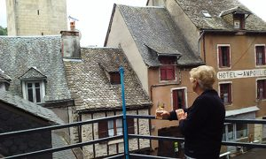 Admiring Rooftops