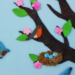 felt seasons tree24