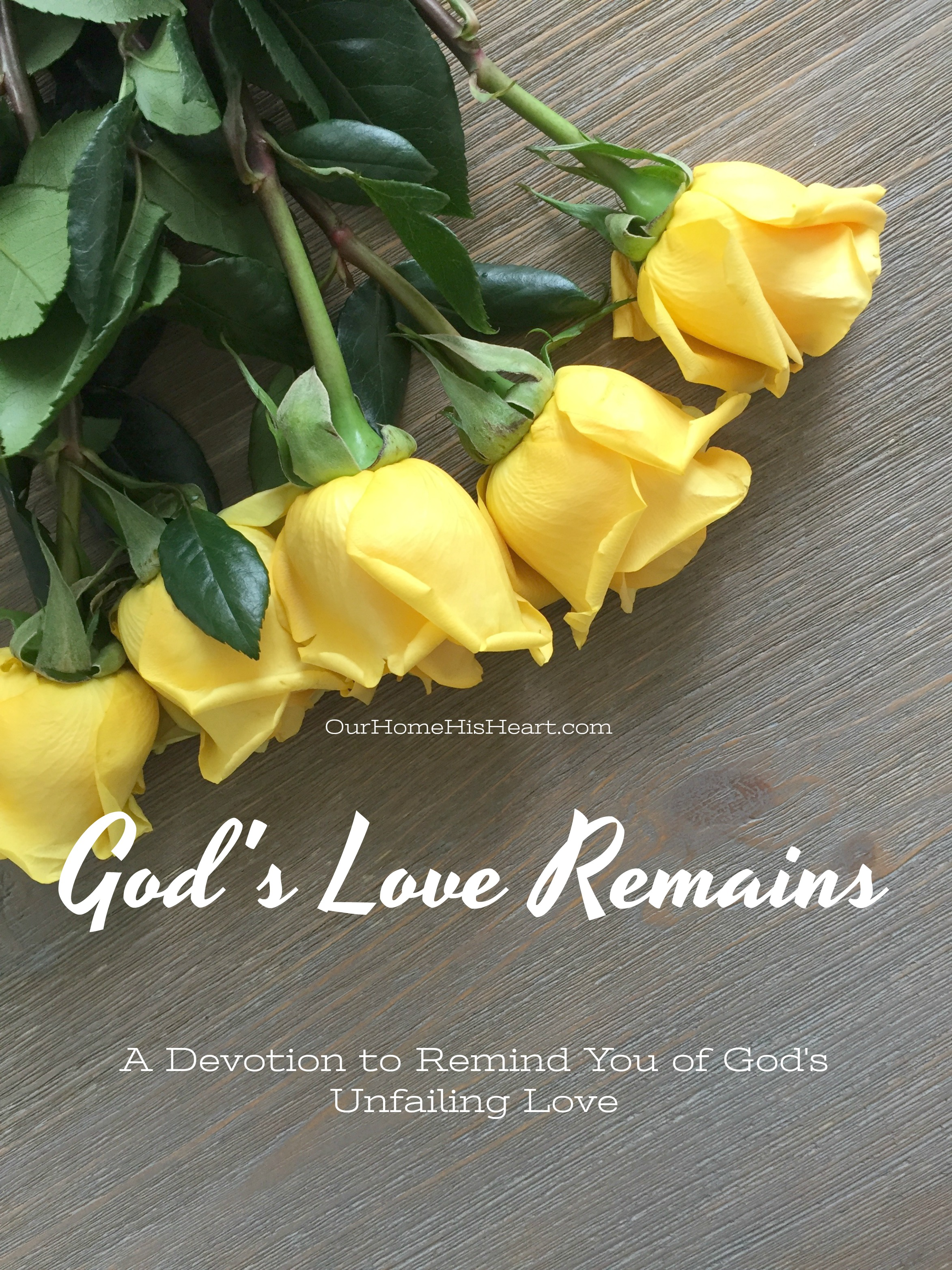 God's Love Remains Devotion