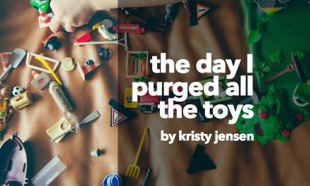 The day I purged all the toys