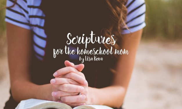 Scriptures for the homeschool mom