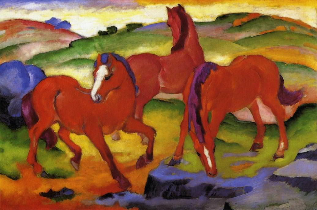 The Red Horses - Franz Marc