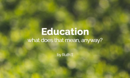 Education: what does that mean anyway?