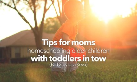 Tips for moms homeschooling older children with toddlers in tow – Part 2