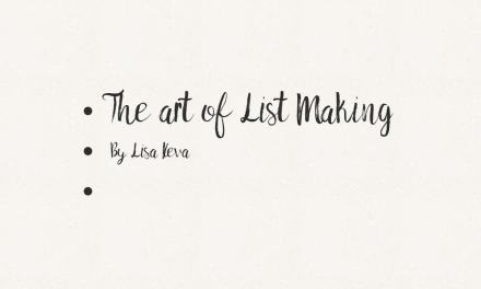 The Art of List Making