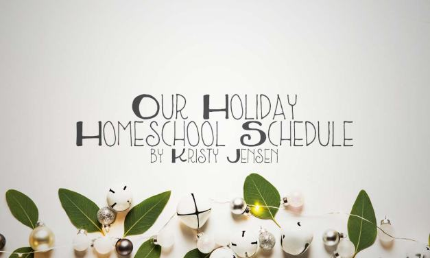 Our Holiday Homeschool Schedule