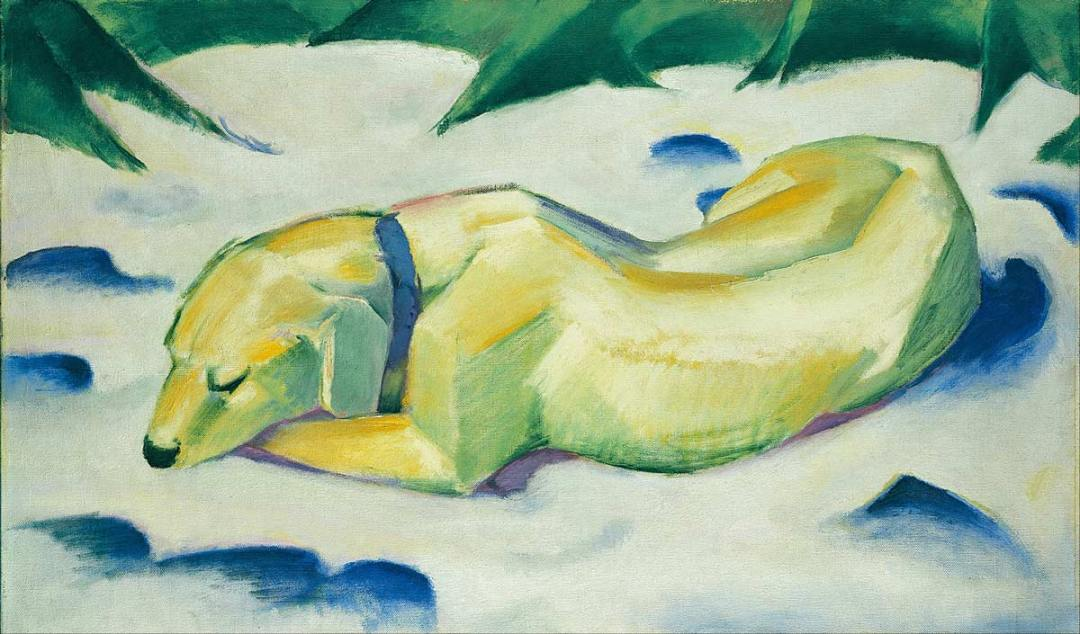 Franz Marc's Dog Lying in the Snow