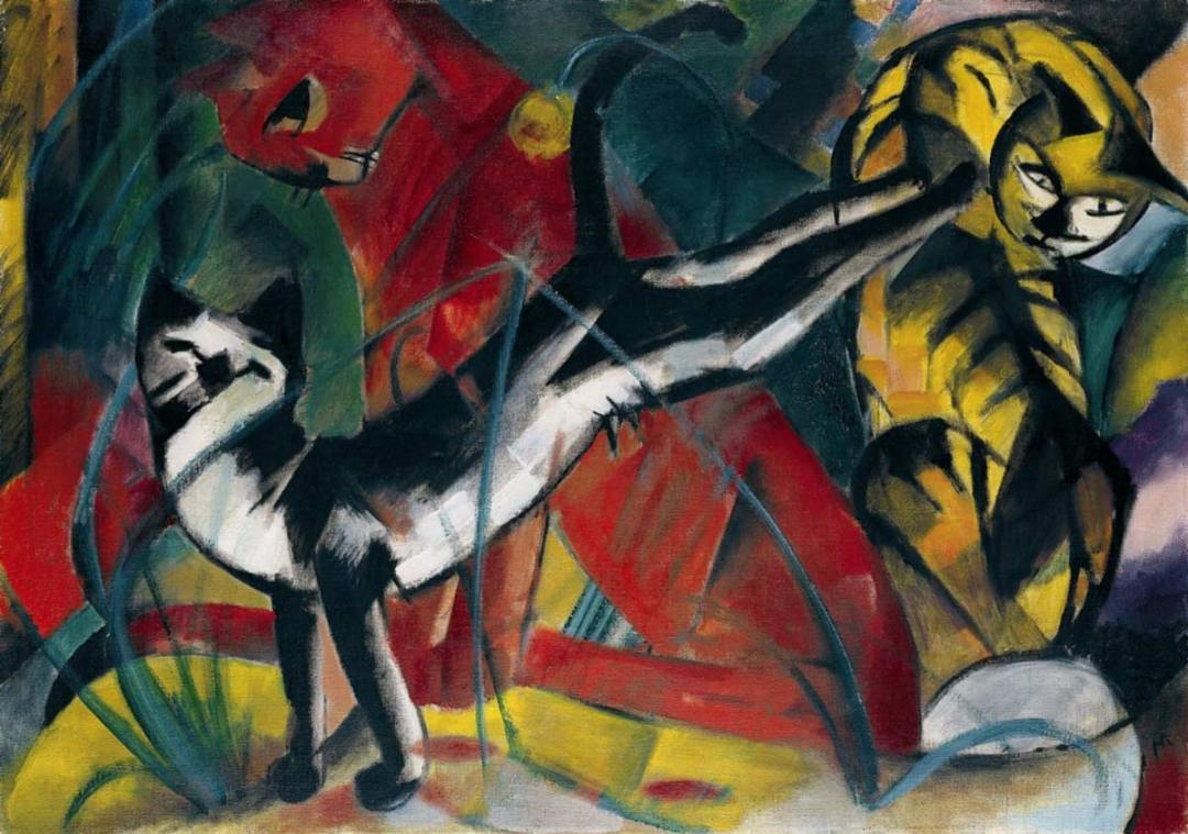 Franz Marc's Three Cats