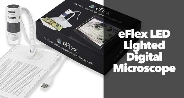 eFlex LED Lighted Digital Microscope