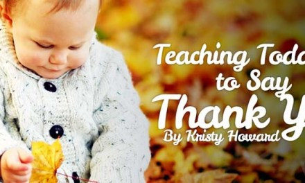 Teaching Toddlers to Say Thank You